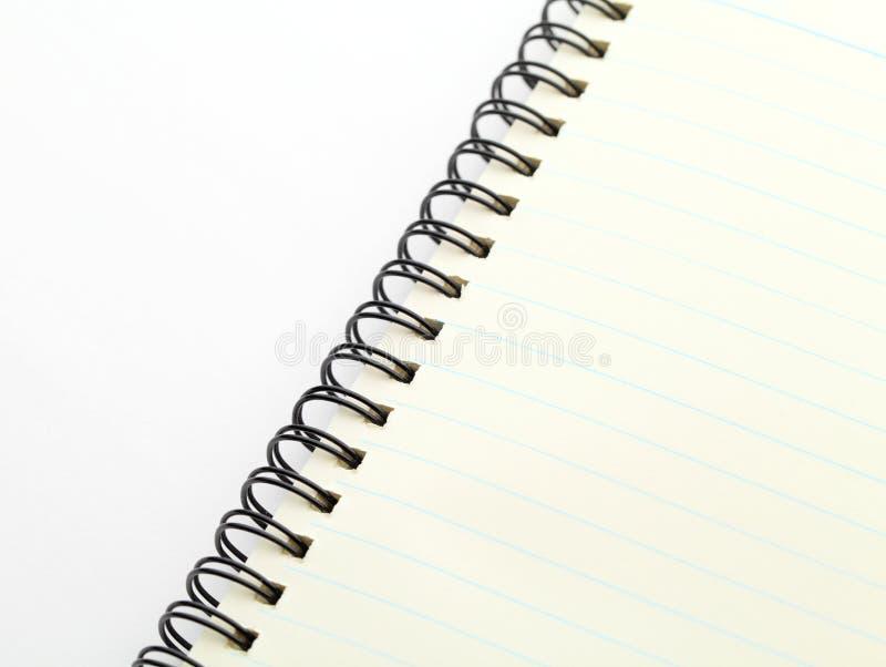 这里您笔记本螺旋的tex 免版税库存照片