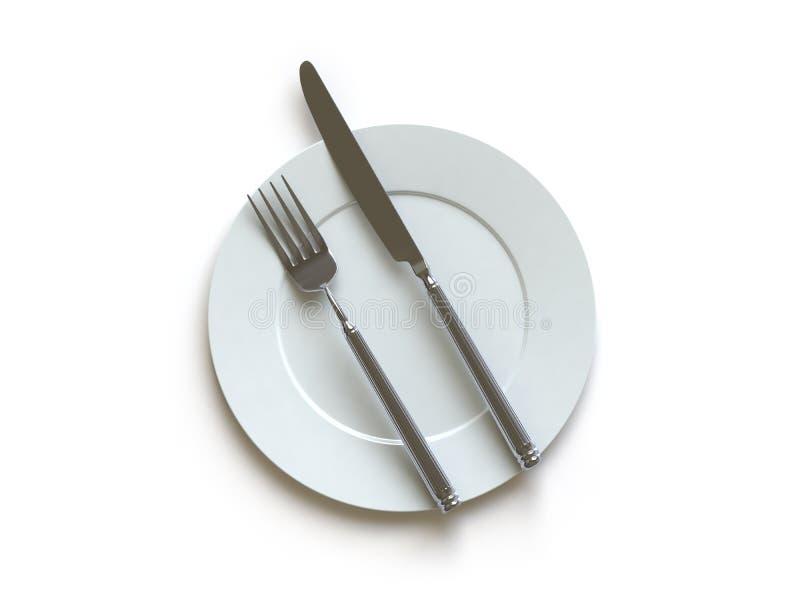 这里收集推进碗筷 向量例证