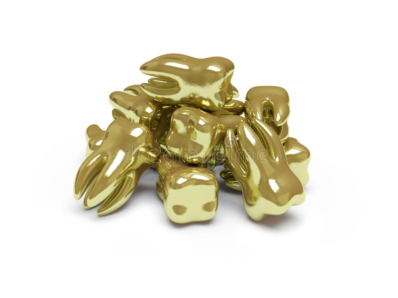 这里收集金子推进 库存例证