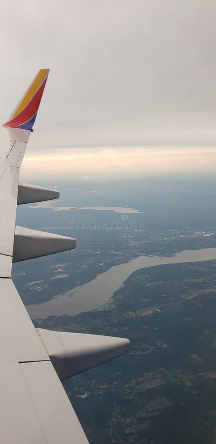 这里纽约我们获得航空公司 库存图片
