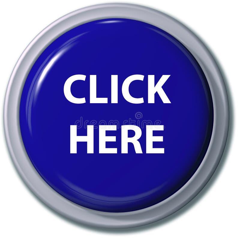 这里蓝色按钮单击下落遮蔽 皇族释放例证