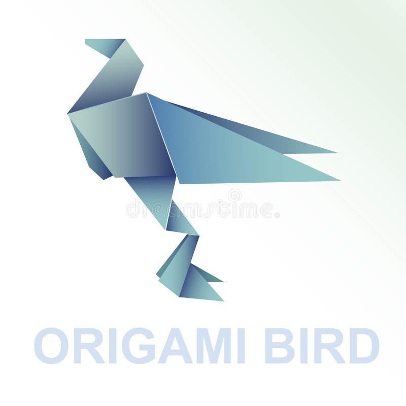 这origami鸟的一汇集 库存例证