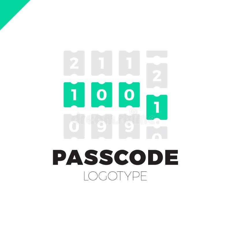 进入别针代码或密码象 安全数字商标 库存例证