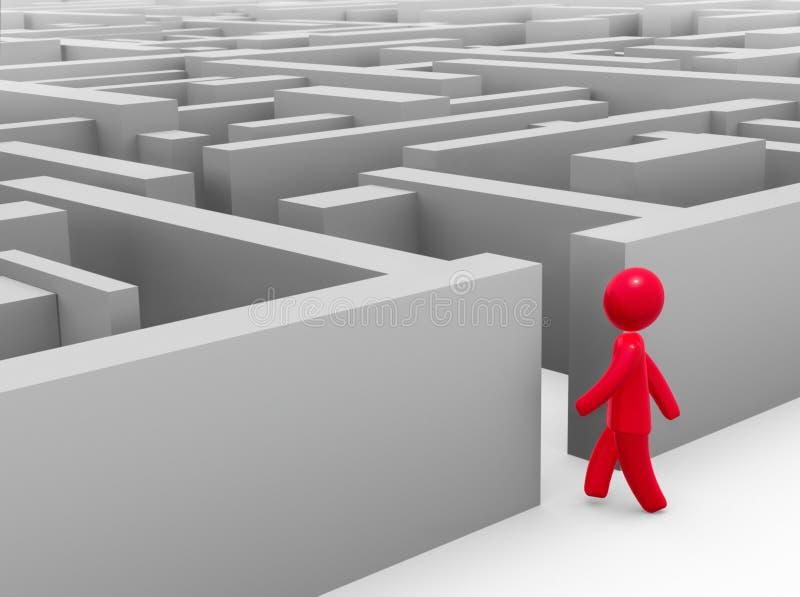 进入的迷宫 向量例证
