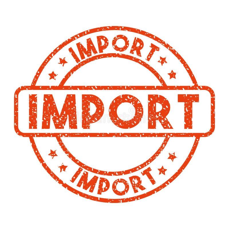 进口和出口设计 向量例证