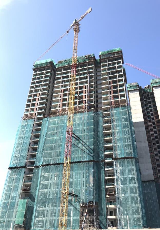 进展中的建筑 免版税库存照片