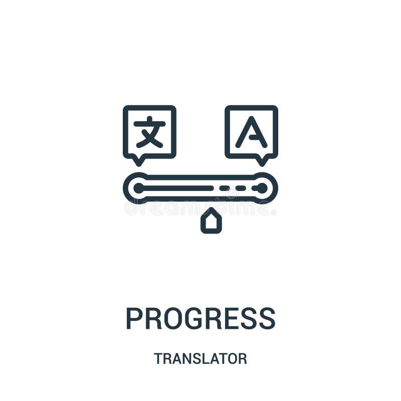 进展从译者汇集的象传染媒介 稀薄的线进展概述象传染媒介例证 r 皇族释放例证
