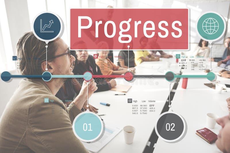 进展改善投资使命发展概念 免版税库存图片