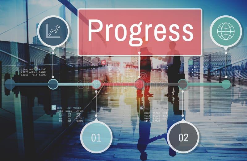进展改善投资使命发展概念 库存图片