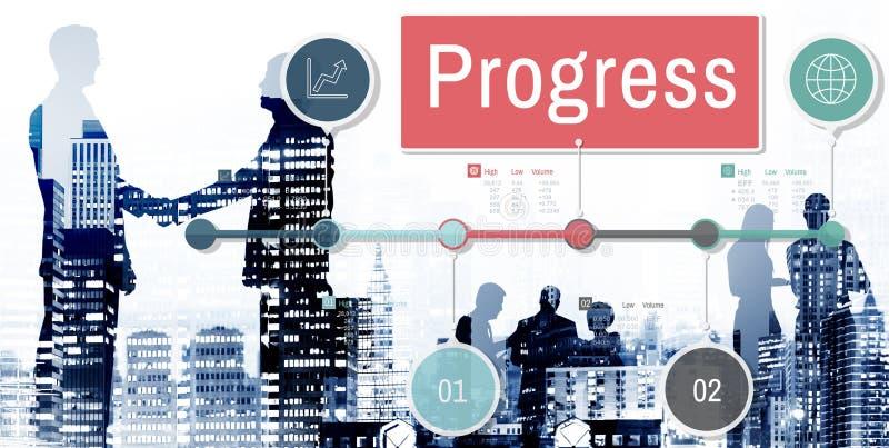 进展改善投资使命发展概念 免版税图库摄影