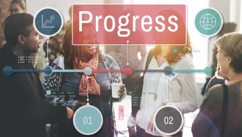 进展改善投资使命Develoment概念 图库摄影