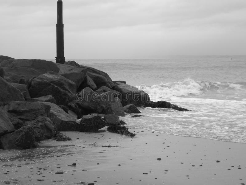 进来浪潮转动的海 免版税图库摄影