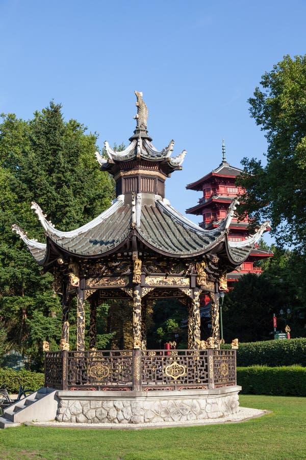 远东,布鲁塞尔的博物馆的中国报亭 库存照片