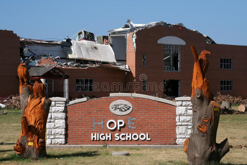 远大抱负joplin学校 免版税库存图片