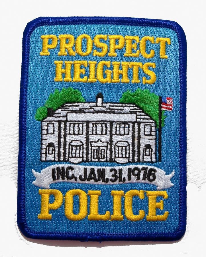 远景高度的肩章在伊利诺伊警察局 库存图片