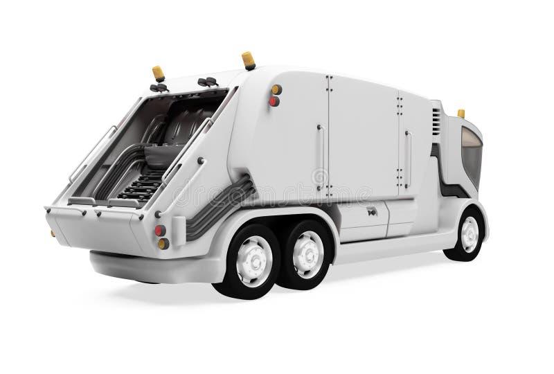 远期查出垃圾车视图 皇族释放例证