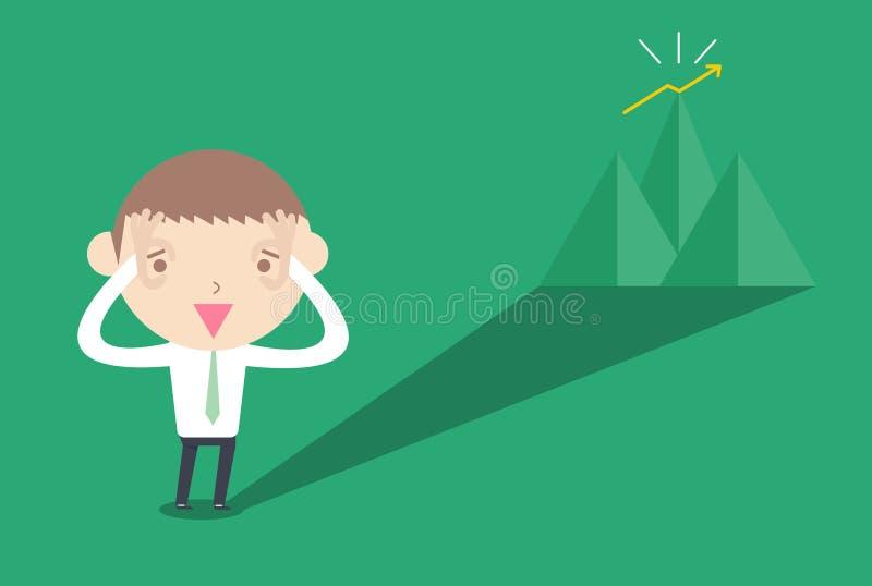 远见 企业动画片画概念性 向量例证