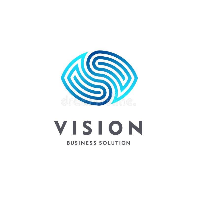 远见 眼睛商标 录影控制标志 聪明的企业解答 瞄准 库存例证