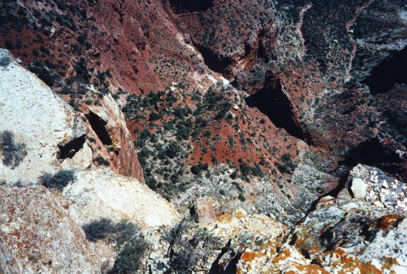 远足下来入大峡谷 免版税库存照片