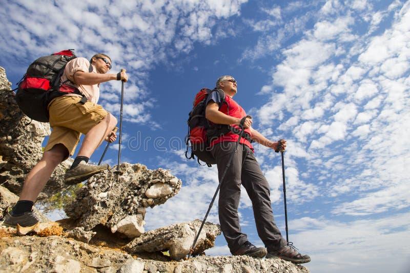 远足在山的夏天 库存图片