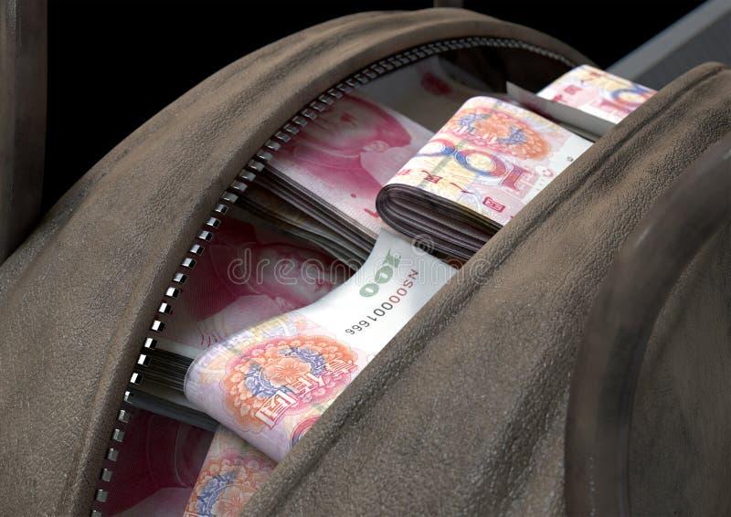 违法获利布朗行李袋 免版税图库摄影