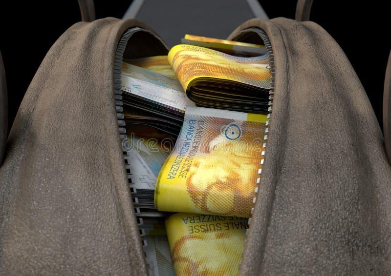 违法获利布朗行李袋 免版税库存照片