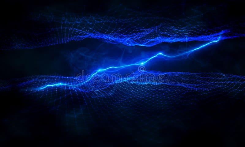 连接一个数字网的闪电 免版税库存图片