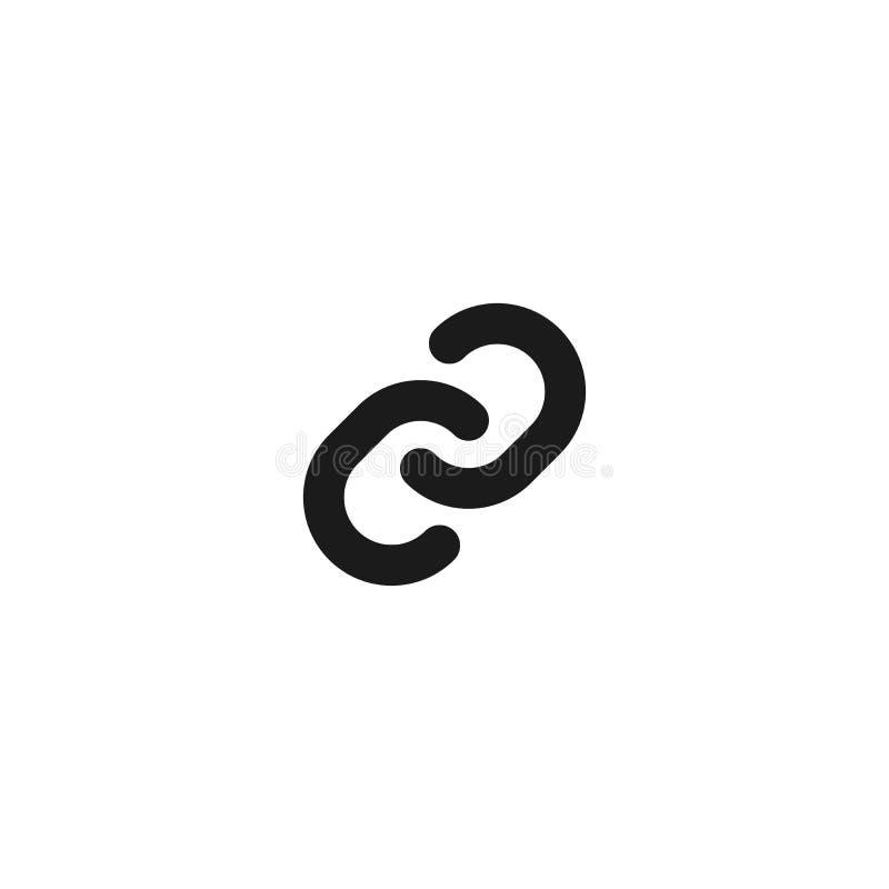 连接和关系象设计 扁节链标志 简单的干净的专业业务管理概念传染媒介 皇族释放例证