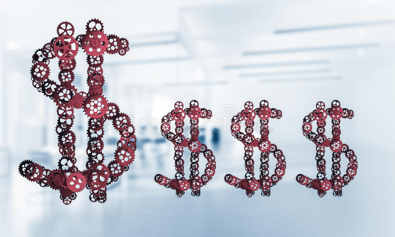 连接和网络概念作为金钱收入手段  图库摄影
