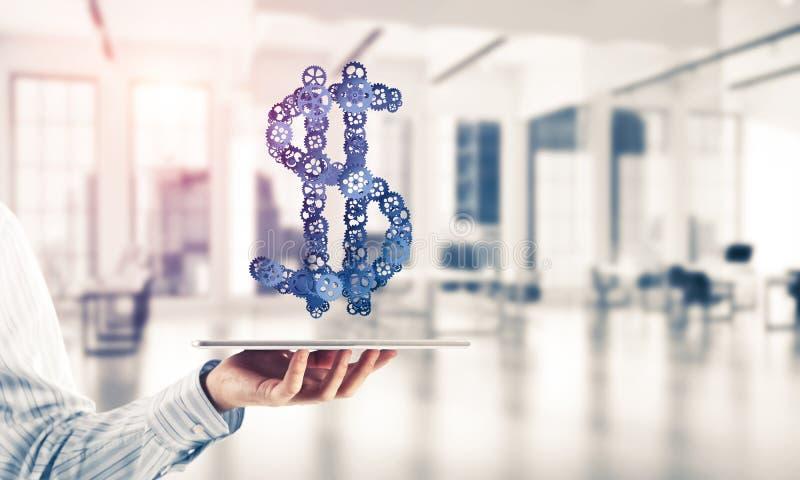 连接和网络概念作为金钱收入手段  免版税库存图片