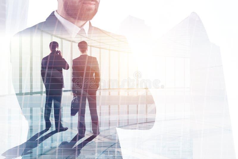 连接四个现有量合伙企业难题配合的概念 免版税图库摄影