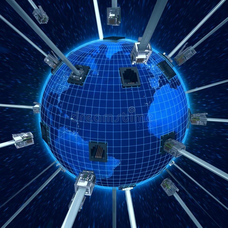 连接地球行星 向量例证