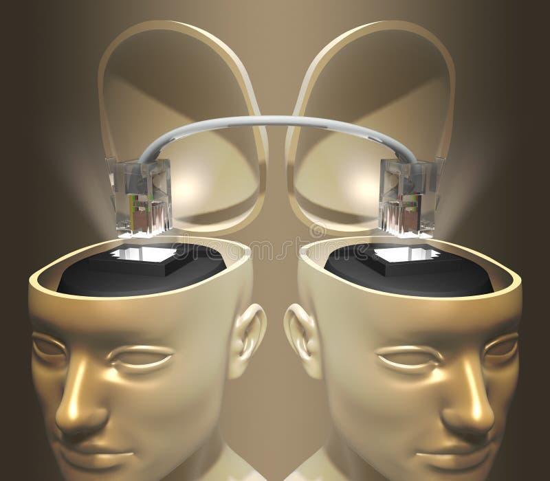 连接头脑 向量例证