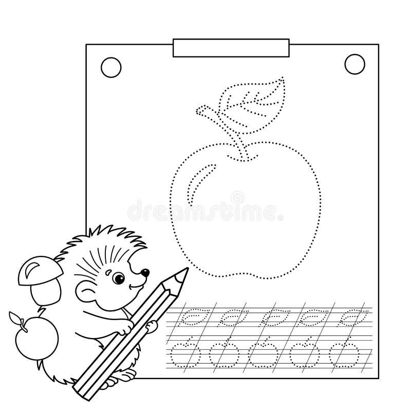连接小点图片和着色页 追踪的活页练习题 孩子的难题 皇族释放例证