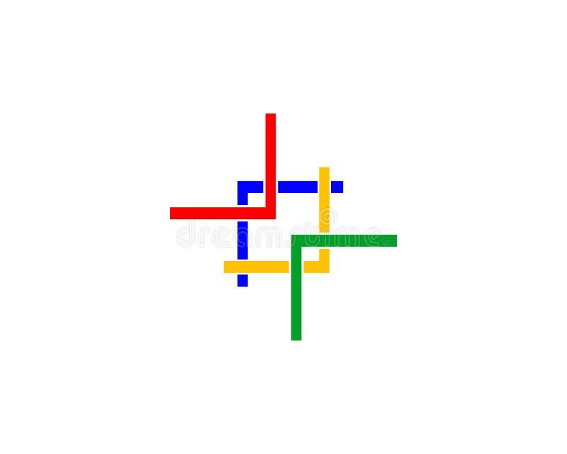 连接徽标 向量例证