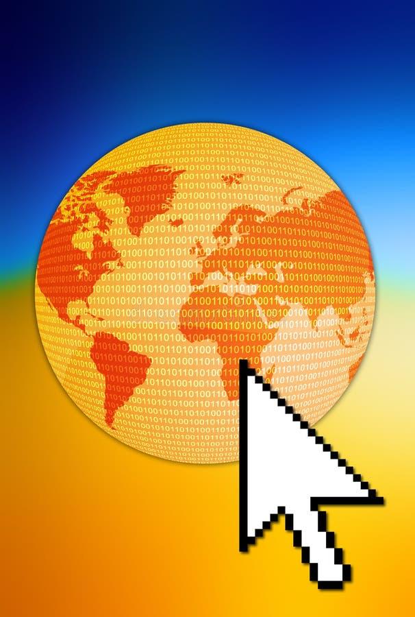 连接数世界 皇族释放例证