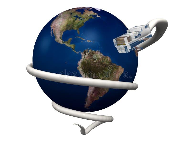 连接数互联网世界 皇族释放例证