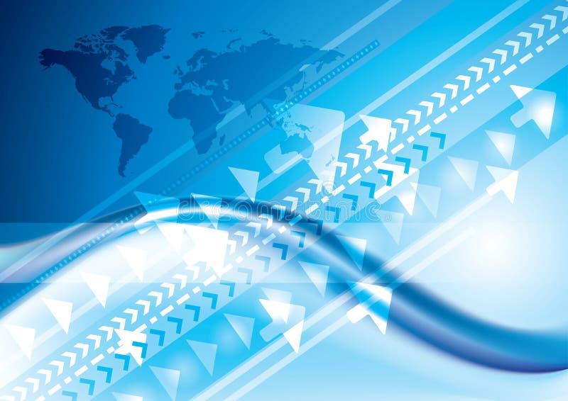 连接数互联网技术 皇族释放例证