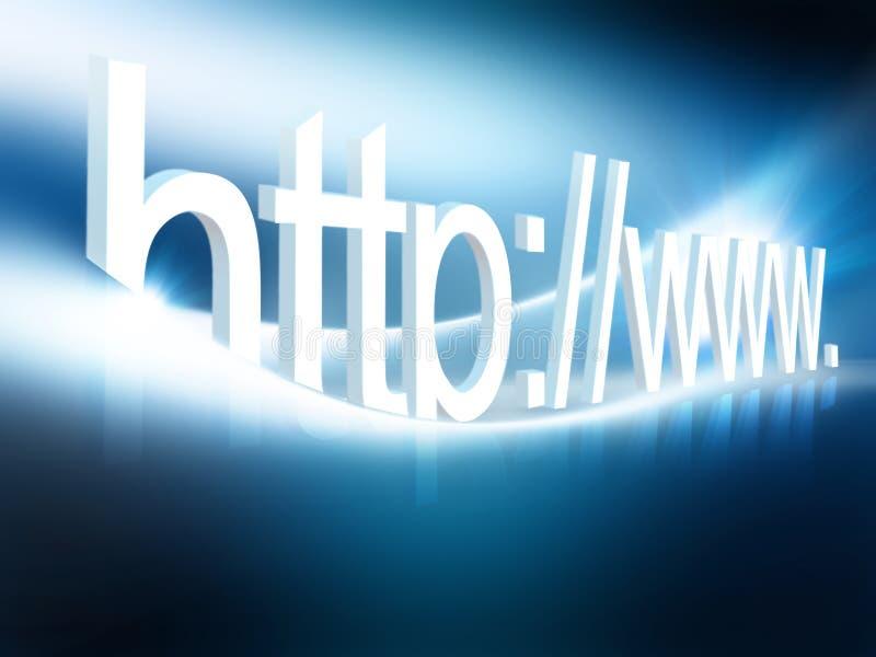 连接数互联网 皇族释放例证