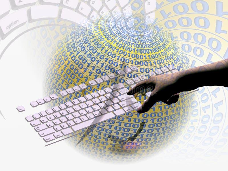 连接数互联网 库存例证