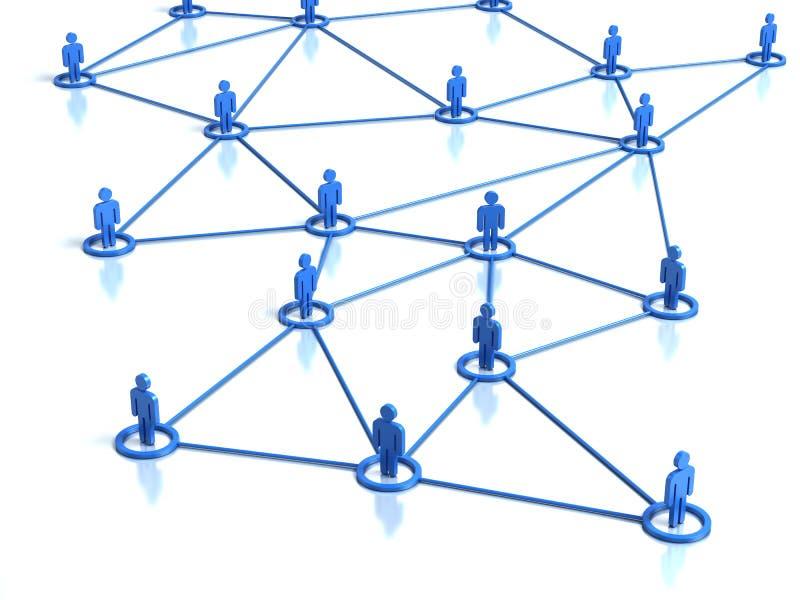 连接数人的网络 皇族释放例证