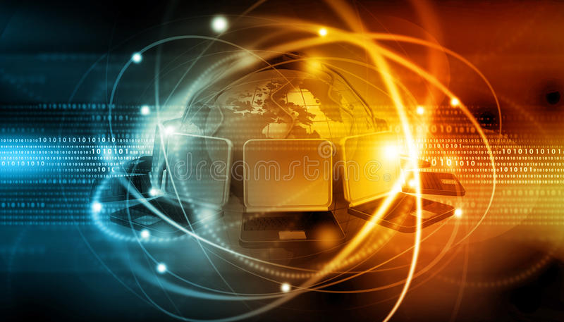 连接数全球互联网 皇族释放例证