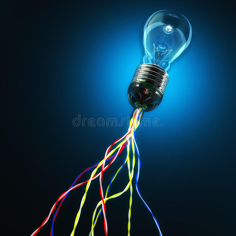 连接数全球光 库存例证