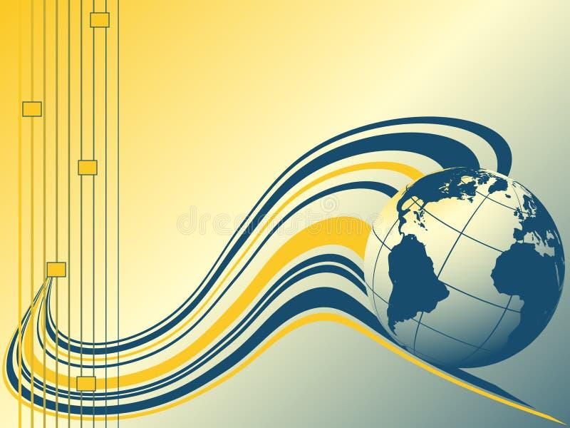 连接数全球向量 向量例证
