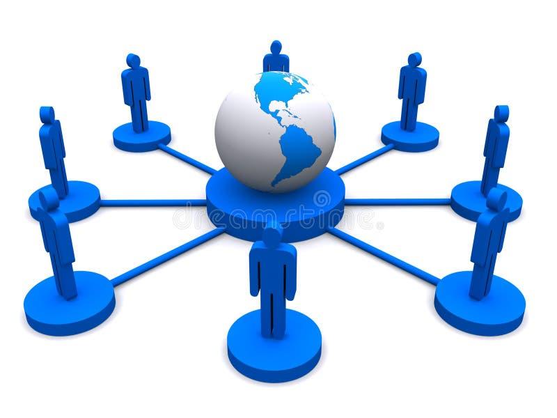 连接数全球网络 库存例证
