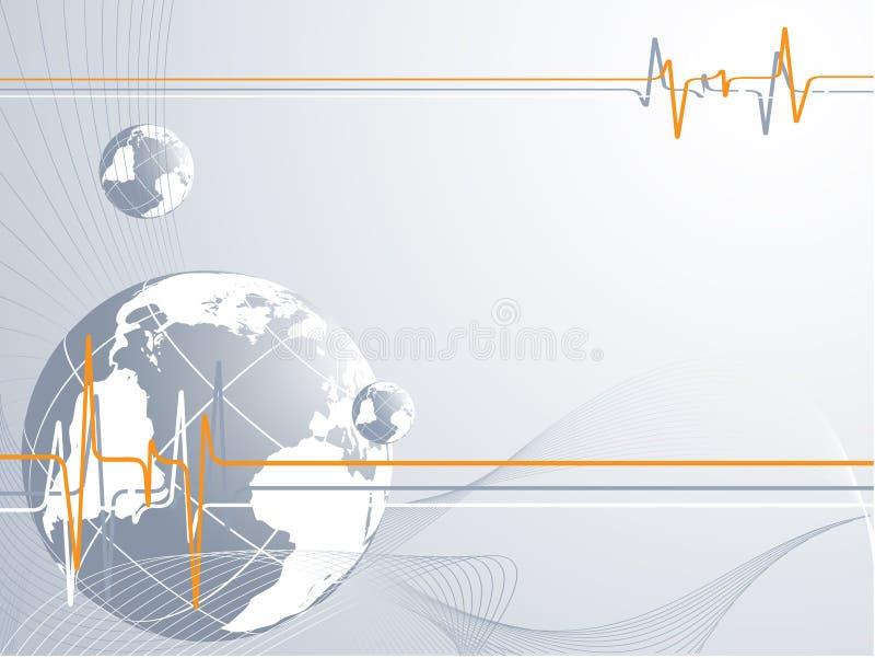 连接数全球脉冲 库存例证