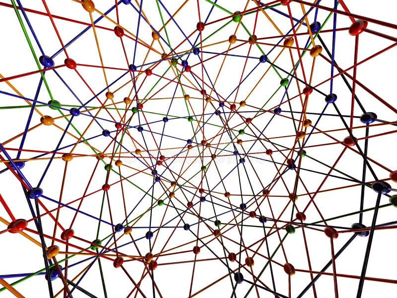 连接数分子 向量例证