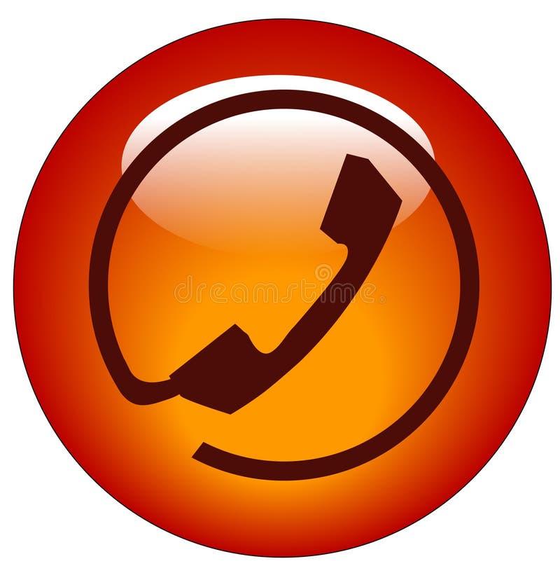 连接数图标电话 库存例证