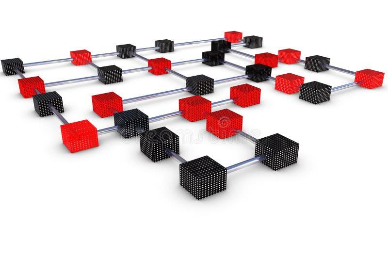 连接数多维数据集 皇族释放例证