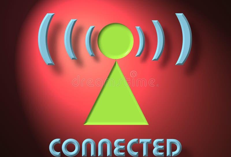 连接数无线 向量例证